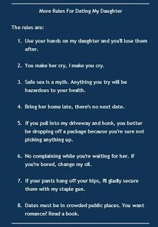 Top rules for dating my daughter..#quotes #sayings #rules http://mw2f ...