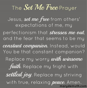 right now, this prayer would be a good start. Maybe a simple