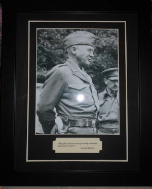 General George Patton World War 2 Famous Quote and Photo Matted and