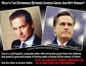 Mitt Romney vs. Gordon Gekko