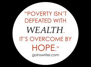 Poverty quote
