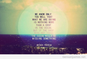 Summer Quotes 2014 Tumblr Mother Theresa quote 2014