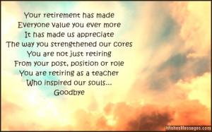 for a teacher retirement ies teacher retirement poems free sweet poem ...