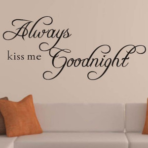 -KISS-ME-GOODNIGHT-Quote-Removable-Vinyl-Wall-Sticker-Decal-Decor-Art ...