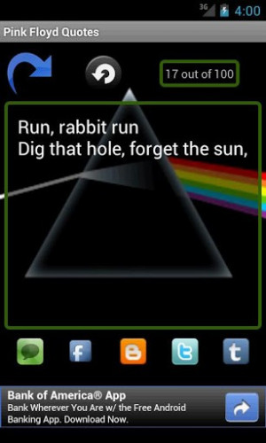 keysoft brings you pink floyd quotes an app that contains the most ...