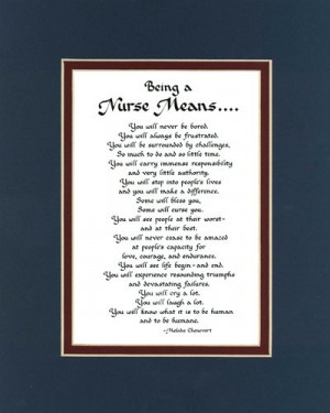 Being a nurse means...