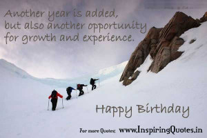 Another Year is added, but also another opportunity for growth and ...