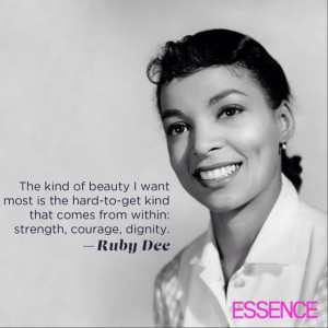 Ruby Dee (October 27, 1922 - June 11, 2014)Actress, poet, playwright ...