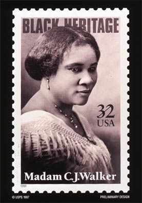 Madam Walker Commerative Stamp - Courtesy of USPS