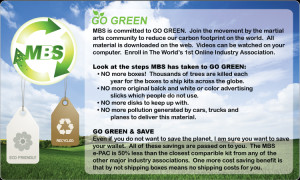 Go GREEN & SAVE