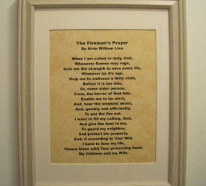 Firefighters Prayer Firefighters Creed Firemans by SunBeamSigns, $14 ...