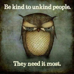 Love the owl and the quote...