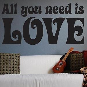 beatles and i wall beatles love quotes wall decals quote bedroom wall ...