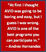 any student may apply for the avid program however avid is designed ...