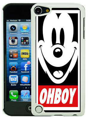... Touch 5 5th Gen Funny Mickey Mouse Obey Case/Cover + Screen Protector
