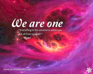 Rumi Quote ~ We are one