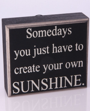 Inspirational Vintage Wall Sign: Sunshine Quote