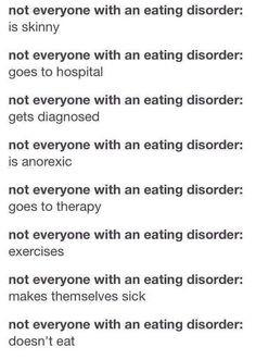 Eating Disorders, Self Harm Eating Disorder, Obvious, Ana Disorder ...