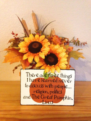 Charlie Brown Thanksgiving Quote by HandleWithLuv on Etsy, $15.00