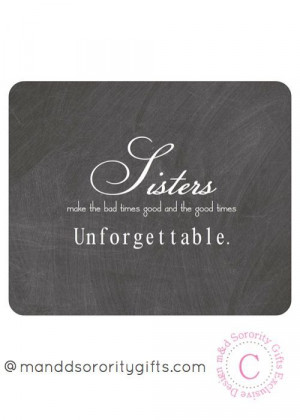 Sorority Sister Quote mouse pad will look adorable on any desk ...