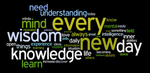 ... in with every new experience i gain new knowledge and understanding