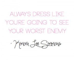 fashion, girly, kimora lee simmons, love, pink, quote, quotes, style