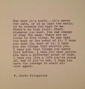 Sais.F.Scott Fitzgerald