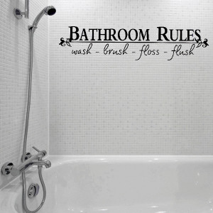 Bathroom Shower Wall Decals Quotes