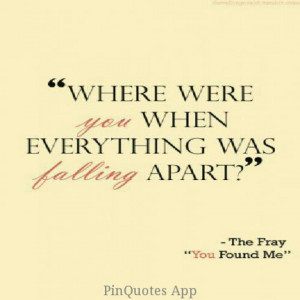 The Fray ~~You found me=one of my favorite songs. like ever.