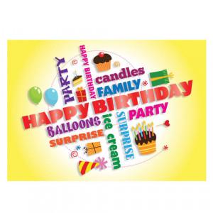 Home > Happy Birthday Yellow Greeting Card