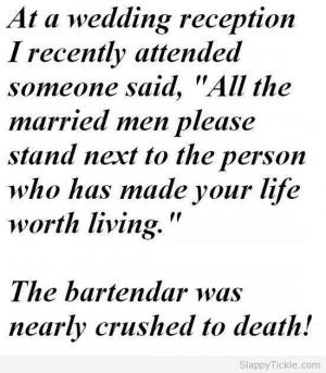 Wedding Reception Joke