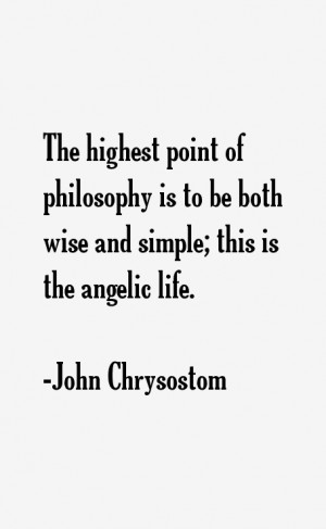 The highest point of philosophy is to be both wise and simple; this is ...