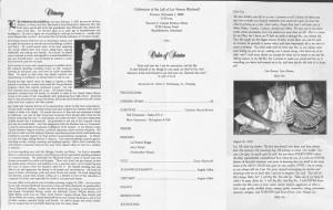Sample Obituary Funeral Programs