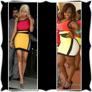 Vera Sidika & Nicki Minaj wear the same dress