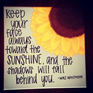 Tumblr Sunflowers Quotes Sunflower sunshine quote