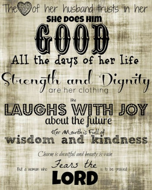 Proverbs 31 Woman, Printable