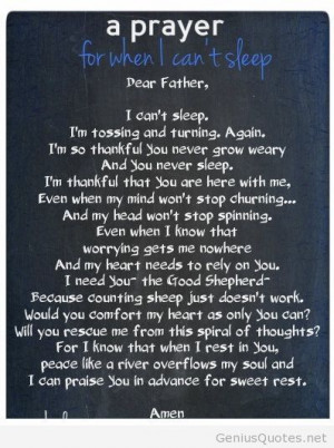Prayer for when I cant sleep