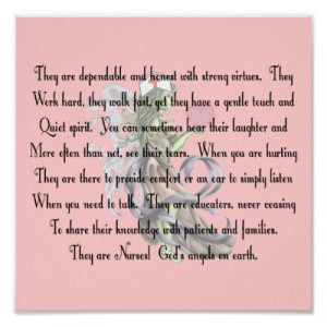 nursing tributes or nursing poems for rns lpns cnas and these nursing ...