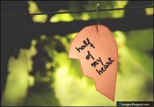 Quotes, half-heart, art, hang