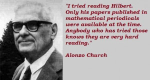 Alonzo church quotes 1