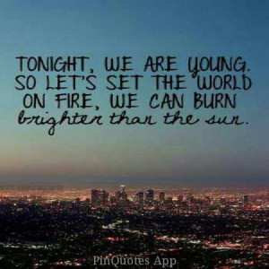 We are young....