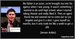 Young Actor Quotes