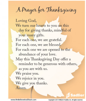 ... thanksgiving and gratitude with A Prayer for Thanksgiving prayer cards