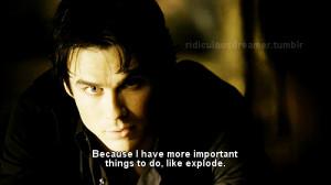 damon, quote, text, the vampire diaries