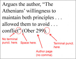 Additional examples of how to punctuate citations, both with and ...