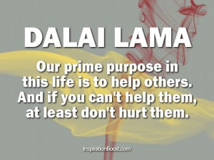 Dalai Lama Life Purpose Quotes