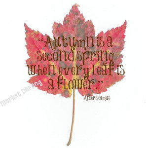 Autumn Quote Print by Fishintheforest on Etsy, $12.00
