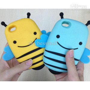 Funny Cute Smile Bumble Bee Soft Silicone Gel Case Cover For Iphone