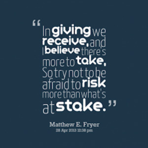 in giving giving back picture quote
