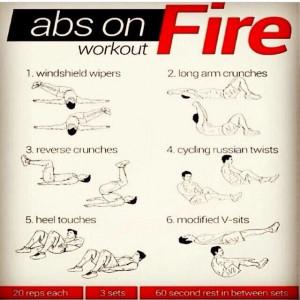 Hard core ab workout.